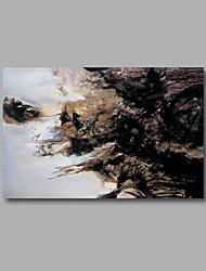"Stretched (Ready to hang) Hand-Painted Oil Painting 36""x24"" Canvas Wall Art Modern Abstract Home Deco Black"