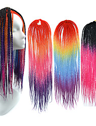 Women Senegal Dread Locks Hair Extensions 20 Kanekalon 100 gram Hair Braids with Free Crochet Hook