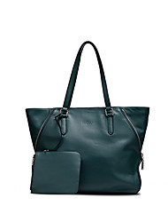 NAWO Women-Casual / Office & Career-Cowhide-Tote-Green-F551