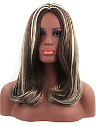 Natural Blonde Color Popular Synthetic Wig For Woman
