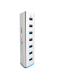 SSK 7 Port USB 3.0 HUB SHU370 Aluminum 5Gbps SuperSpeed Extender with 5V 3.5A Power Adapter USB 3.0 Splitter