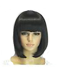Popular  Bobo Hair Style Wig Capless  Long Straight  Synthetic Hair Wigs Full Bang  2 Colors