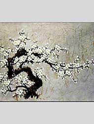 Peint à la main A fleurs/Botanique Méditerranéen / Pastoral / Style européen / Modern / Classique / Traditionnel / Réalisme,Un Panneau