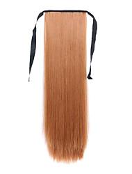 comprimento borwn 60 centímetros tipo de ligação sintética cabelo reto longo peruca de rabo de cavalo (cor 30j)