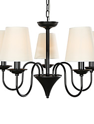 5 Light 25 inch Ceiling Light Fixture, Black