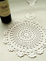 2pcs/set 50cm Round Retro Crochet Cotton Table Runner Garden Theme Coffee Table Hollow Out Cloth Wedding Decor