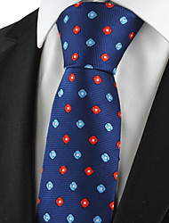 KissTies Men's Polka Pattern Microfiber Classic Tie Formal Necktie Holiday Business With Gift  Box (5 Colors Available)
