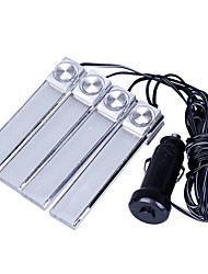 1Set 4PCS Car Atmosphere Light Car LED Light Atmosphere The Car Lights Indoor Lights on The Sole