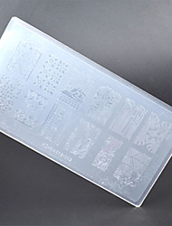 New 1 Pc Nail Art Stamp Stamping Image Plate Plastic Nail Template Manicure Stencil Tools