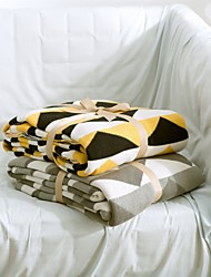 "Geometric Knitted Blanket Full Cotton 59""*79"""