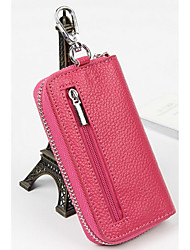 Unisex Cowhide Professioanl Use Key Holder Pink / Blue / Brown / Red / Black / Burgundy / Fuchsia