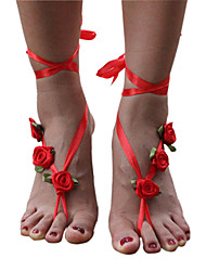 Anklet/Bracelet Others Unique Design Flowers Fashion Fabric Red Women's Jewelry 1pc