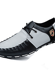 Men's Shoes Casual PU Oxfords Black / Blue / White / Black and White
