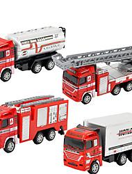 Dibang - brinquedo do carro de fogo para crianças puxar de volta modelo de carro liga de brinquedos educativos (4pcs)