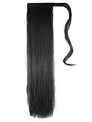 длина черный парик хвостик 60cm синтетический прямой высокой температуры цвет провода 2