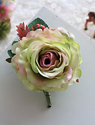 Wedding Flowers Free-form Simple Handmade Peonies Grooms Boutonnieres