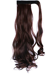 Wig Black Chocolate 45CM High-Temperature Wire Strap Style Long Hair Ponytail Colour 33