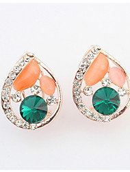 Drop Earrings Rhinestone Opal Alloy Adorable Drop Black Dark Blue Red Green Light Blue Jewelry Wedding Party Daily 1 pair