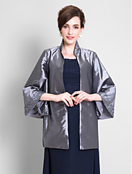 Wedding  Wraps Coats/Jackets 3/4-Length Sleeve Taffeta Silver Wedding