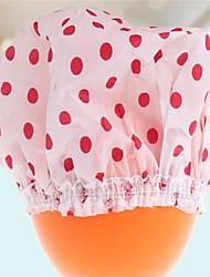 Cute Household Waterproof Shower Caps Women Bath Spa Caps Elastic Hats(Three Color A Set)