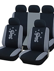 Universal Fit for Car, Truck, Suv, or Van Polyester Car Seat Cover Full Set Full Seat Cover Set (10 Pieces) Gray