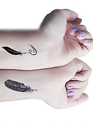 Personality Feathers Quill-pen Feather Pen Tattoo Stickers Temporary Tattoos(1 pc)