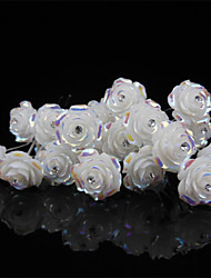 10 pcs Women's Rose Flower Headpiece-Wedding U Shape Hair Pin / Hair Stick Jewelry