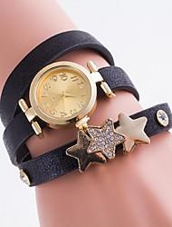 Women's Fashion Watch Bracelet Watch Casual Watch Casual Watch Imitation Diamond Quartz PU Band Multi-Colored