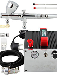 OPHIR Pro 0.2mm 0.3mm 0.5mm Dual Action Airbrush Kit & Air Compressor for Nail Art Makeup