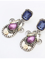 Drop Earrings Acrylic Alloy Fashion Drop White Purple Jewelry Wedding Party Daily 1 pair