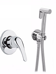 Handheld Pets Faucet / Portable Bidet Shower Set With Brass Bidet Mixer With1.5m Hose / Toilet Shower Bidet Sprayer