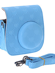 PU Leather Heart Printing Camera Case for Fujifilm Instax Mini 8 Camera, Mini 8+/Mini8 Instant Film Camera