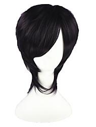 Cosplay Wigs Gintama Takasugi Shinsuke Purple Short Anime Cosplay Wigs 35 CM Heat Resistant Fiber Male / Female