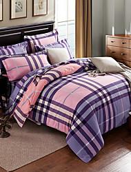 venta caliente Conjunto del lecho cuadros impresión reactiva la ropa de cama 100% algodón cama jogo tela de cama cubre el tamaño 4pcs