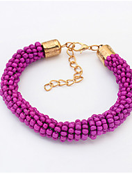Bracelet/Chain Bracelets Alloy / Resin Wedding / Party / Daily / Casual Jewelry Gift Orange / Purple,1pc