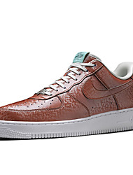Nike Air Force 1 Round Toe / Sneakers / Casual Shoes / Skateboarding Shoes / Running Shoes Men's Wearproof Low-Top Dark Blue / Brown