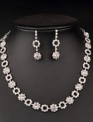Jewelry Set Women's Anniversary / Wedding / Birthday / Gift / Party / Special Occasion Jewelry Sets Rhinestone RhinestoneNecklaces /