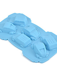 Cars Shape Silicone 3D Mold Bakeware Dining Bar Non-Stick Cake Decorating Fondant Soap Mold Random Color