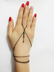 Women's European Style Fashion Simple Retro Arrow Heart Bracelet with Ring