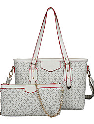 Women PU Formal / Casual / Office & Career / Shopping Tote / Bag Sets Beige / Pink / Blue / Brown / Red