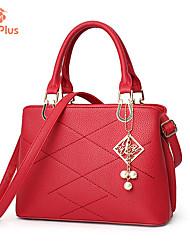M.Plus® Women's Fashion PU Leather Messenger Shoulder Bag/Handbag Tote