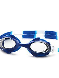 Unisex Swimming Goggles Black / Blue Adjustable Size / Anti-slip Strap PC PU