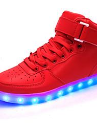 Unisexe-Extérieure / Décontracté / Sport-Rouge-Talon Plat-Confort / Nouveauté-Sneakers-Similicuir / Tissu
