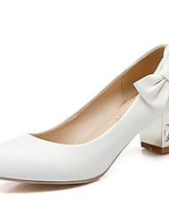 Women's Shoes Chunky Heel Heels / Round Toe Heels Wedding / Party & Evening / Dress Blue / Pink / White
