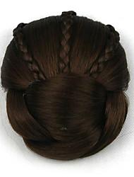 Kinky кудрявый коричневого европы невесты человеческих волос монолитным парики шиньоны dh104 2009