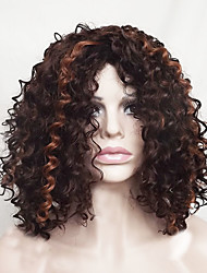 Europe And The United States With Dark Brown Highlights Blast Volume 14 inch Hair Nylon Hair Wigs