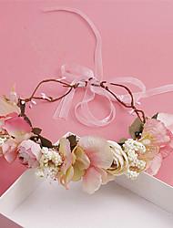 Женский Для девочек Ткань Заставка-Свадьба Особые случаи На каждый день на открытом воздухе Венки 1 шт.