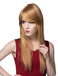 Charming Silky Straight Long Trendy Hand Tied-Top Capless Hair Woman's Wig