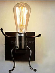 American Country Iron Lamp Retro Bedroom Bedside Lamp Small Aisle
