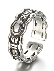 Unisex Vintage Pattern Punk Band Antique Sterling Silver Ring Band Rings Daily / Casual 1pc
